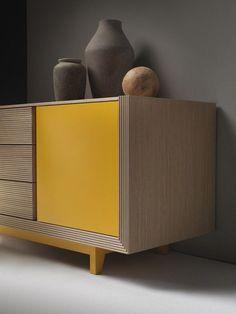 Lacquered wooden sideboard ALCHIMIA bassa By ariannasoldati design Edoardo Colzani
