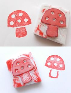 How To: Carve Your Own Stamp ▽▼▽ My Poppet - kids | craft | vintage | fun