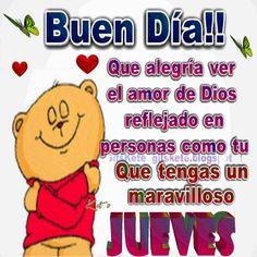 Que alegría ver  el amor de Dios  reflejado en personas  como tu Que tengas un maravilloso jueves !!