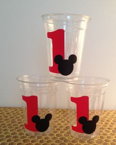 24 tasses de Mickey Mouse Party tasses16 oz par LuluBellaCreations