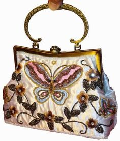 Beautiful Butterfly Purses Beaded Bags 46ccee8e5425