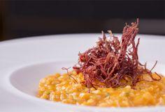 risoto, abbora, carne-seca, crocante, receita, como fazer, foto