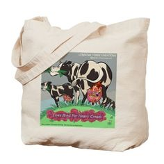 Heavy #Cream #funny #Clapton #parody #ecofriendly #Totebag #cows by @LTCartoons @cafepress #tote #grocerybag #gift #sale @Pinterest #humor