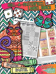 Roll-A-Masterpiece: Laurel Burch Art History Game by Glitter Meets Glue Designs #arthistory #game #laurelburch