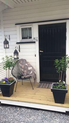 My front patio, black door