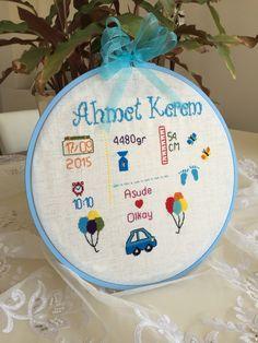 Bebek panosu kanaviçe Baby Cross Stitch Patterns, Cross Stitch Designs, Cross Stitch Rose, Cross Stitch Baby, Baby Embroidery, Embroidery Patterns, Baby Crafts, Diy And Crafts, Baby Bike