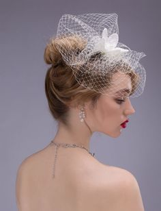 ❀ Grenadine Floral Wedding Hats | Riccol ❤