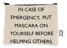 emergency mascara pouch