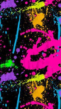 Phone wallpaper | splattered paint
