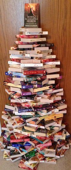 Romance novel Christmas tree part deux: Electric Boogaloo.