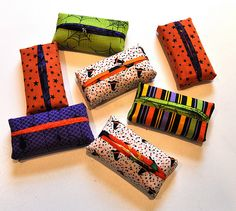 Uses for leftover fabric - individual Kleenex covers.