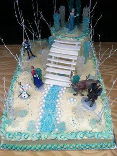 Cassidys Frozen Birthday Cake Snowflake Cake from Harris Teeter
