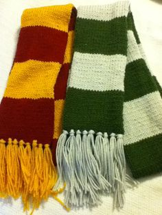 Knitted House Scarves, $18 each | 56 Totally Wearable Harry Potter-Themed Accessories
