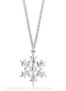 Tiffany Outlet Attractive Snowflake Necklace