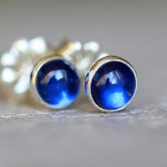 Blue Kyanite Earring Studs  Tiny Drop of Color Post by apostrophie, $70.00