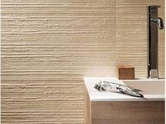 Piastrelle con superficie tridimensionale in ceramica a pasta bianca per interni DESERT GROOVE | Rivestimento tridimensionale