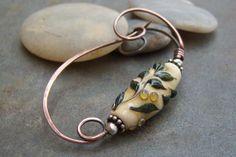 SaleHandmadeArtisanFibulaLampworkScarf Pin. by JewlieBeads on Etsy, $35.00