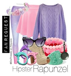 """""""Hipster Rapunzel Disneybound by DisThreads"""" by disthreads ❤ liked on Polyvore featuring Charlotte Russe and Miss Selfridge"""