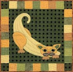 "This is block nineteen of the popular StoryQuilt series, Garden Patch Cats by Helene Knott. The quilt block finishes at 18"" square. Start your quilting day with the included Banana Nut Pancakes by Hel"