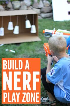 Empty box turned Nerf play zone - awesome!