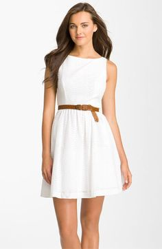 Jessica Simpson Eyelet Dress available at Nordstrom--engagement party dress <3 Nordstrom!