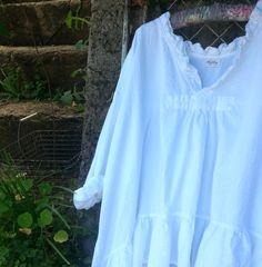 White linen shirt via Etsy