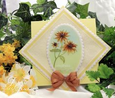 Black Eyed Susan digital stamp by Power Poppy, card design by Jerri Kay