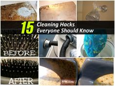 15 Cleaning Hacks Everyone Should Know - ok not exactly organization, but helpful....