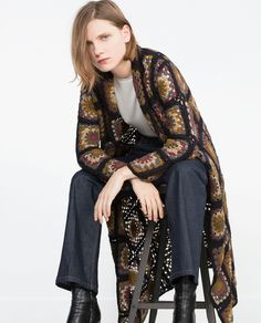 PATCHWORK CROCHET COAT - View all - Outerwear - WOMAN | ZARA Ukraine