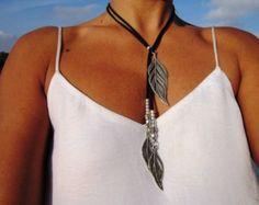 long leather necklace tassel necklaces bohemian jewelry by kekugi