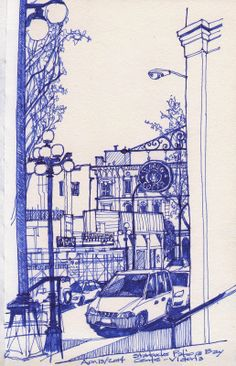 Urban Sketchers: First truly warm weekend of the year