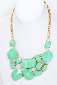 TrendsWeLove - Mint Stone Necklace, $28.00 (http://www.trendswelove.com/mint-stone-necklace/)