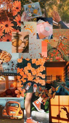 Retro Wallpaper Iphone, Orange Wallpaper, Cute Pastel Wallpaper, Disney Phone Wallpaper, Mood Wallpaper, Summer Wallpaper, Iphone Wallpaper Tumblr Aesthetic, Cute Patterns Wallpaper, Iphone Background Wallpaper