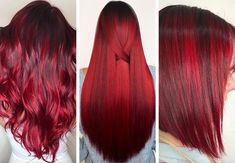 63 Hot Red Hair Color Shades to Dye for: Red Hair Dye Tips & Ideas - Red Hair Shades & Color Ideas: Russian Red Hair Color - Magenta Hair Colors, Bright Red Hair, Hair Dye Colors, Red Hair Color, Cool Hair Color, Dyed Tips, Hair Dye Tips, Red Ombre Hair, Dyed Red Hair