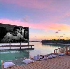 Outdoor cinema at Soneva Jani Maldives. Outdoor cinema at Soneva Jani Maldives. Tableaux D'inspiration, Places To Travel, Places To Visit, Outdoor Cinema, Adventure Is Out There, Travel Goals, Hotels And Resorts, Luxury Travel, Dream Vacations