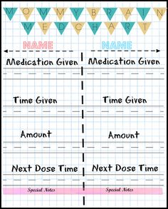 Free Printable Medicine Chart For Kids Coloring Charts