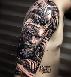 This store created for those person who love vikings. And if you are a viking lover then you can make order for a viking t shirt. Nautical Tattoo Sleeve, Viking Tattoo Sleeve, Viking Tattoo Symbol, Wolf Tattoo Sleeve, Norse Tattoo, Tattoo Sleeve Designs, Sleeve Tattoos, Viking Tattoos For Men, Viking Warrior Tattoos