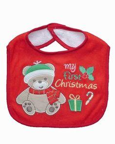 3a5bcb62036d3 Bavoir Noël pour bébé- Bavoir bébé brodé   MON PREMIER NOËL pour bébé.  Découvrez