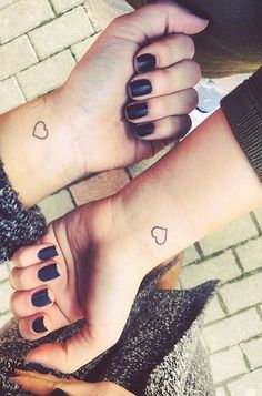 Sometimes you get really lucky and your sister happens to be your best friend as well. The perfect way to show your lifelong bond is with a cute little tattoo.