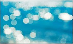 Blue and white bokeh!