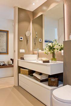 mueble de baño a medida lacado en blanco mate