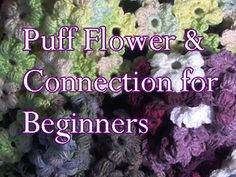 Ravelry: Puff Flower Scarf for Beginners pattern by Meladoras Creations