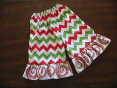 Red Green and White Chevron Red Green Pink by LemonadeLaneBoutique, $20.00