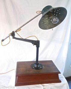 Vintage industrial o.c. white lamp | Vintage industrial ...