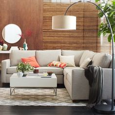 West Elm offers modern furniture and home decor featuring inspiring designs and colors. Create a stylish space with home accessories from West Elm. Cozy Living Rooms, My Living Room, Living Spaces, Coastal Living, West Elm, Mid Century Sectional, 3 Piece Sectional, Gray Sectional, Corner Sectional