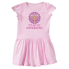 inktastic My 1st Hanukkah Festival Girls Toddler T-Shirt