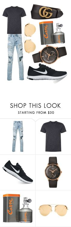 """What to wear"" by dede-28 ❤ liked on Polyvore featuring Ksubi, NIKE, Longines, CURVE, Linda Farrow, Gucci, men's fashion and menswear"