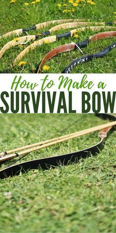 How to Make a Survival Bow — Survival bows can be made from various materials I have to imagine they would be capable of taking small game and perhaps some bow fishing as well . Survival Bow, Survival Weapons, Apocalypse Survival, Survival Life, Homestead Survival, Wilderness Survival, Survival Tools, Camping Survival, Outdoor Survival
