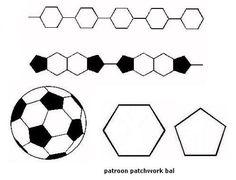 Voetbalpatroon voor voetbaltaart
