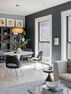 Boston Contemporary   Contemporary   Dining Room   Boston   By Ana Donohue  Interiors Famosas Paredes Pretas